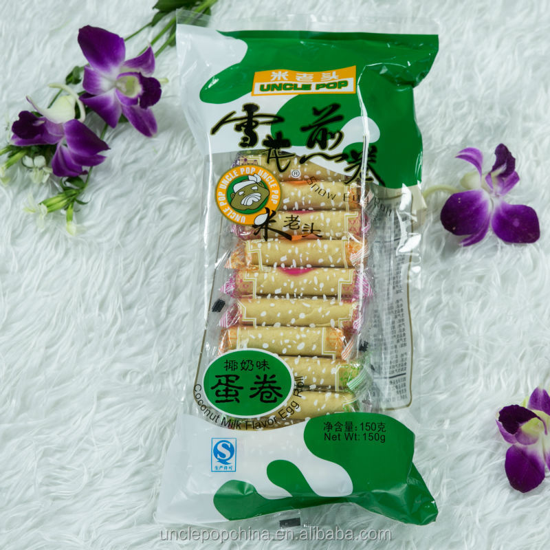 baked snacks 150g egg roll wafer with yogurt filling
