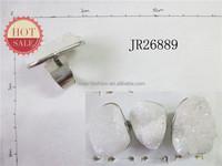 Natural White Rock Crystal Quartz Ring