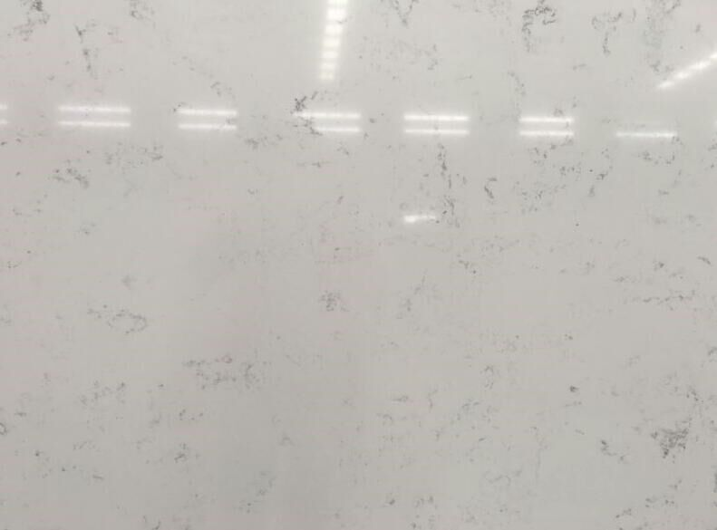 Light Grey Vein Marble Looking White Artificial Quartz Stone