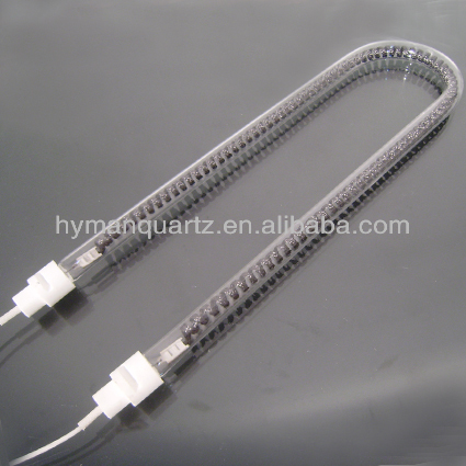 U-shape carbon infrared quartz heating tube for heat sink