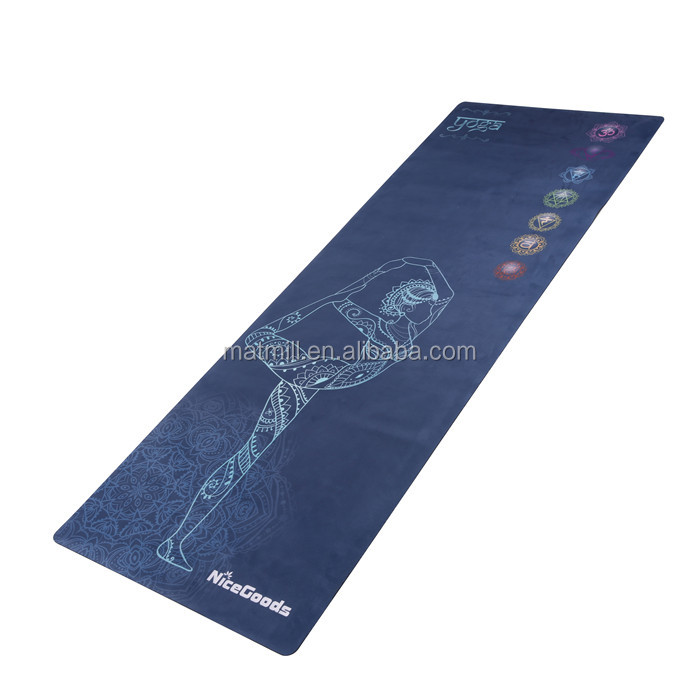 Wholesale <strong>eco</strong> friendly anti slip fitness biodegradable yoga mat with strap