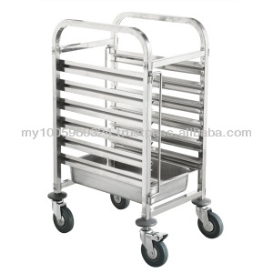Stainless Steel Gastronorm Trolley