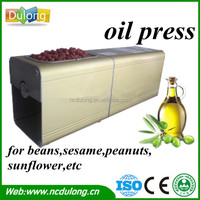Small size DL-ZYJ03 cooking oil pressing machine with high extraction rate and rich nutrition, pure natural oil