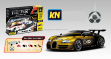 Newly RC bugatti toy assemble blocks car model sport car