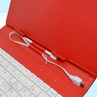 Tablet pc case with keyboard and touchpad pen