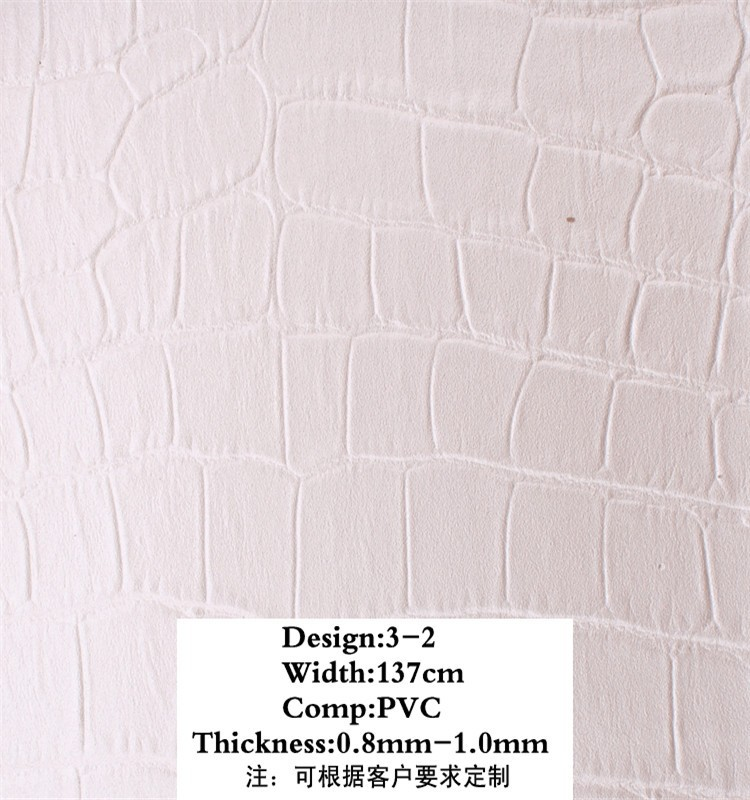 China supplies fake Crocodile white deecoration leather/pvcleather