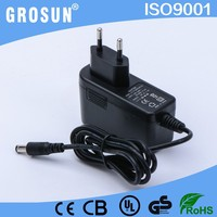 Grosun Input AC110-240V 12 Volt 1.5 Amp AC DC EU Pulg Power Adapter from Shenzhen Manufacturer