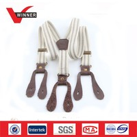 High quality mens leather suspenders
