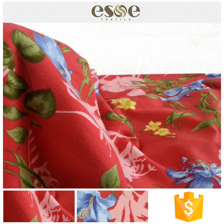 New design cheap cotton printed types of fabric