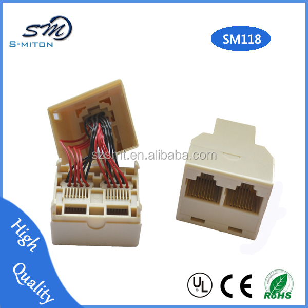 Reliable Quality rj45 wireless network adapter/Female to 2 female adapter
