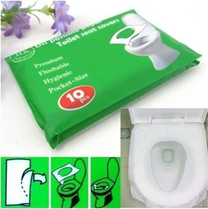 1pack 10pcs disposable hygienic sterilized toilet seat paper cover