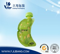 pouch with spout for fruit juice packing, plastic food packaging bag