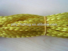 Yellow Hollow Braid Polypropylene Rope