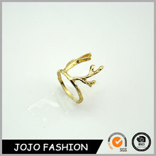 Fashion deer antler ring simple gold ring designs