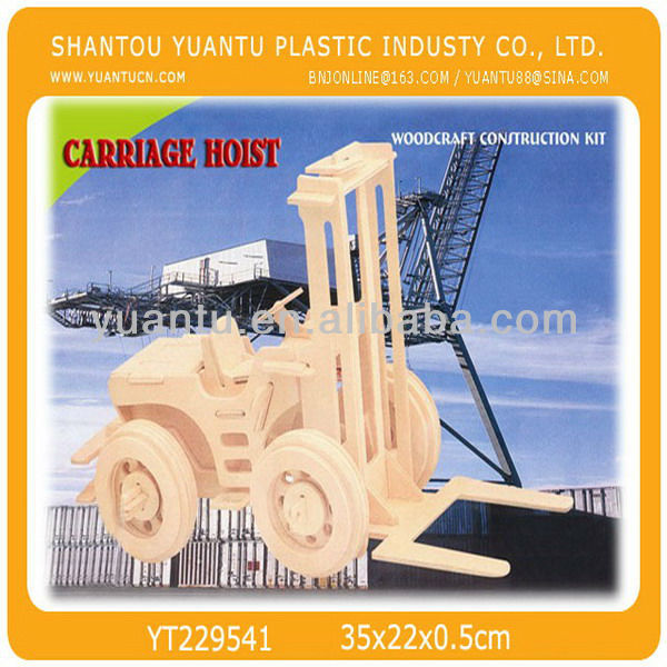 Vehicle Series - Carriage Hoist Model Wooden 3D Puzzle,Puzzle Game Educational For Kids Various Styles Hoting Selling