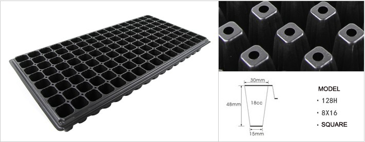 Good Quality 128 Cell Plastic Black Seed Tray For Greenhouse