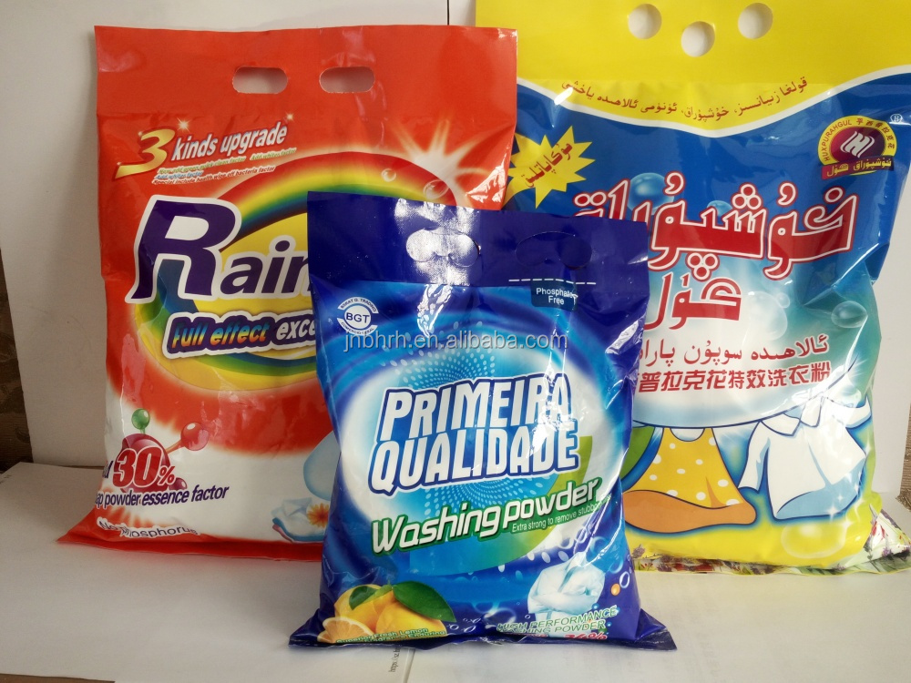 Wahing powder factory supply scouring detergent powder 30g,125g,200g,500g,1kg