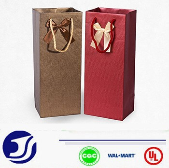 Luxury style gift bag for wine small paper trolly bag