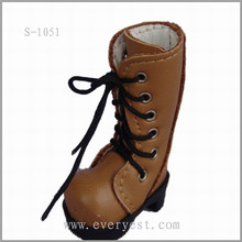 wholesale products plastic doll shoes for small doll, 18 inch doll brown boots, wholesale 18 inch doll shoes with shoelace