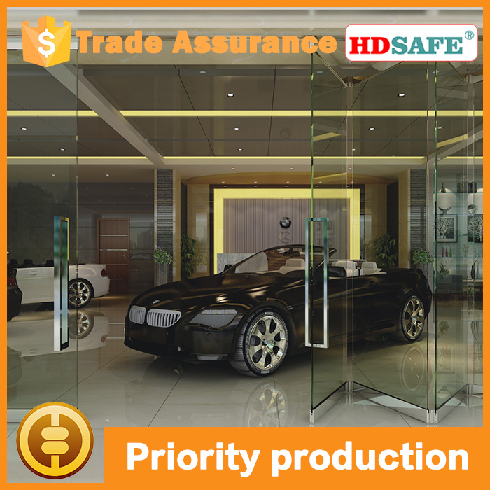 glass sliding folding door system, interior movable glass partition