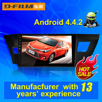 10.2 inch double din Android car auto GPS DVD player with Navigation BT FM AM for Toyota Levin 2014