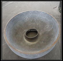 stainless steel elliptical dish gland cover with groove hole