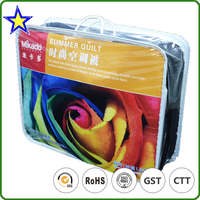 Factory price wholesale plastic clear PVC quilt cover clothing bedding packaging bag