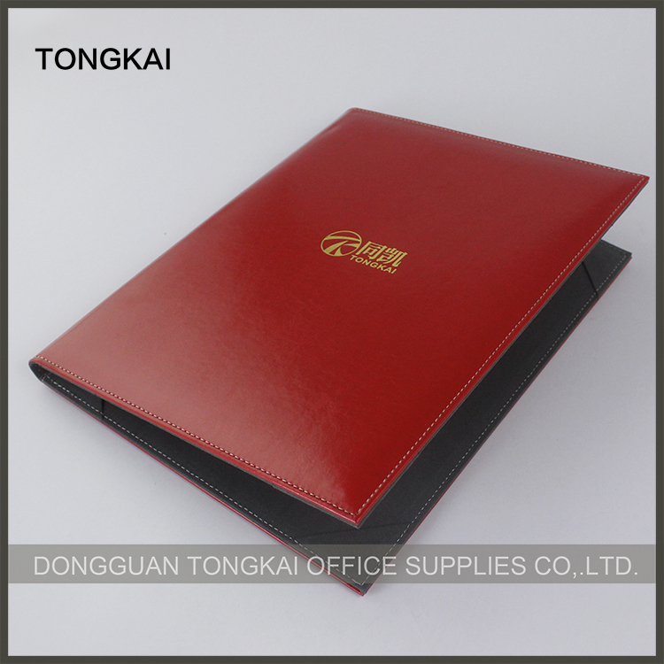 Red color a4 leather certificate folder diploma holder printing service