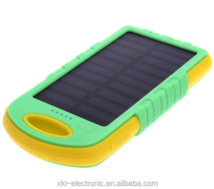 Portable Solar power battery bank 8000 mAh solar multiple mobile phone charger, solar mobile phone charger