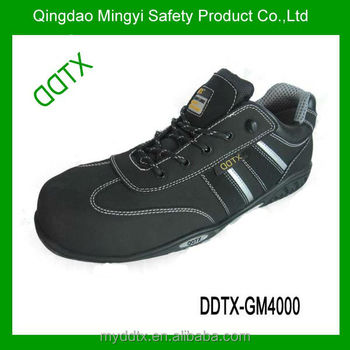 Unisex Leisure genuine leather rubber bottom sole safety shoes