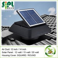 Square Solar Attic Fan with adjustab Solar Panel