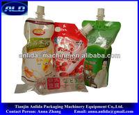 spout water fruit juice jelly yogurt beverage pouch filling sealing packing machine