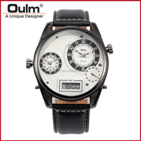 quartz smart watch, men wrist watch made in china, oulm fashion led watch