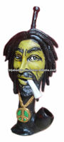 Figurine Shaped Hand Crafted Smoking Pipes - Rasta Man