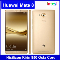 "Hot Sale Original Huawei Mate 8 4G LTE Mobile Phone Octa Core 3/4GB RAM 32/64/128GB ROM 6.0"" FHD Android 6.0 16MP Fingerprint ID"