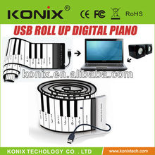 88 Keys Flexible Piano Roll Up Soft Electronic Foldable Keyboard Synthesizer With MIDI Out