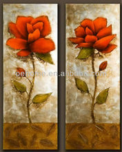 Hot Sell Handmade Glass painting designs of flowers