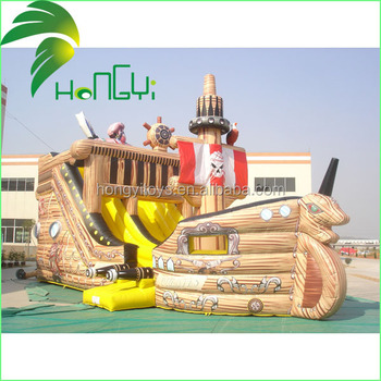 inflatable pirate ship shape playing garden playground/pirate ship playground equipment