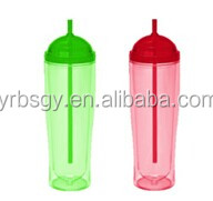 Hot new products for 2014 wholesale factory price hard plastic cup with lid and straw