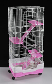CH-95,wire plastic 4 level Cat cage,luxury big cat cage