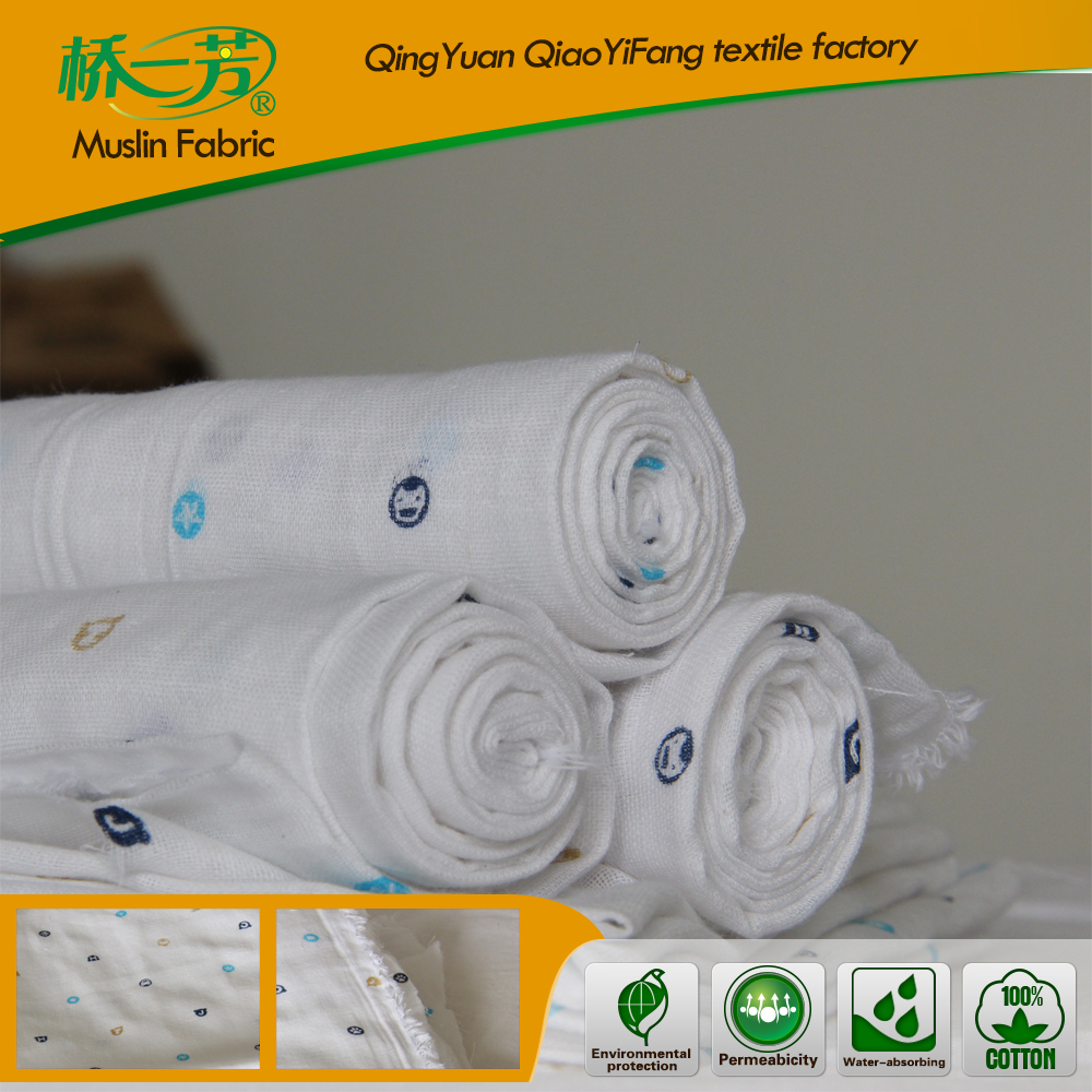 Factory custom high quality digital printed organic cotton hemp fabric in china