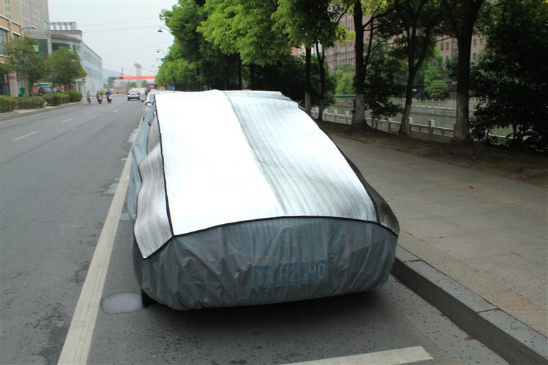 Aluminum Car Cover : Aluminum film epe non woven hail car cover padded