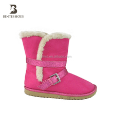 Models boots for girls China winter baby shoes belt buckle snow boots wholesale