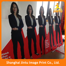 Human shape die cut advertising pvc foam display board stand