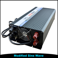 24V DC To 110V 220V AC 2000W 2KW Solar Modified Sine Wave UPS Inverter Battery Charger