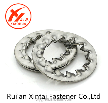 internal sawtooth lock zinc plated high quality 65Mn washer