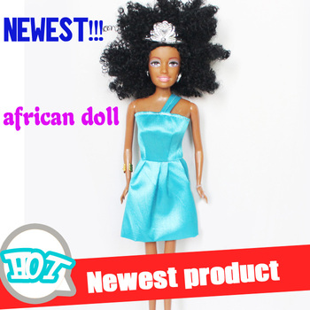 2014 New black doll for girl african doll