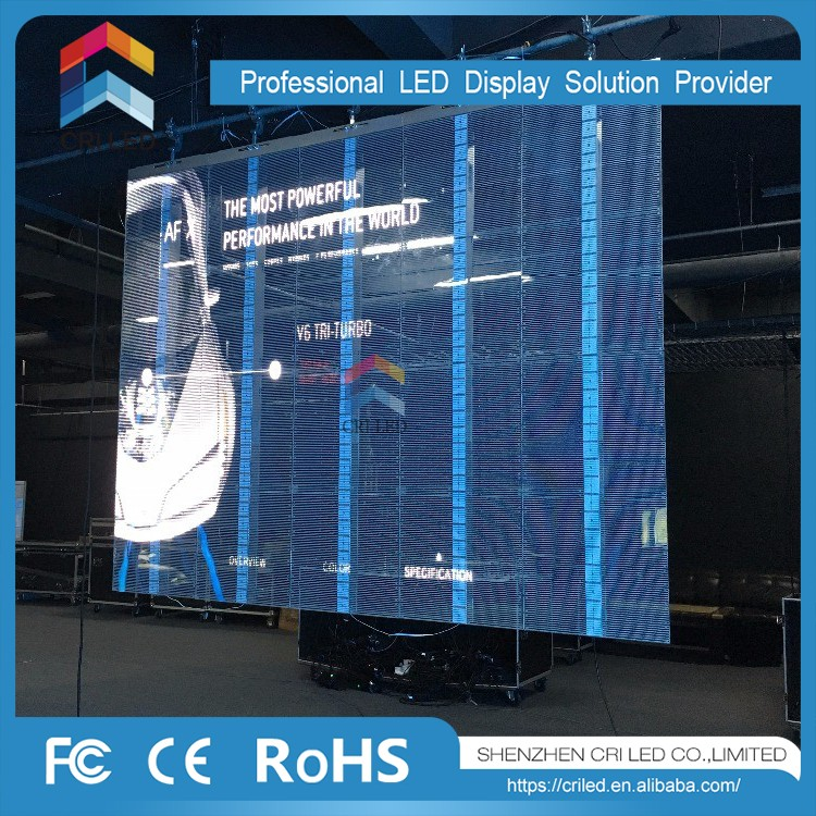 2017 Best Price for building glass wall indoor transparent led display screen,showcase led video display