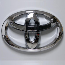 Wholesale 3d electroplating chrome ABS LED backlit toyota car logo signs