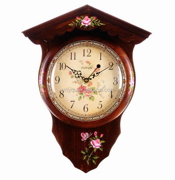 Antique Wall Clock Hand-painted Wood Design Wall Clock